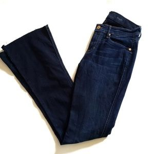 7FAM Kaylie 27 Dark Wash Jean's Raw Edge